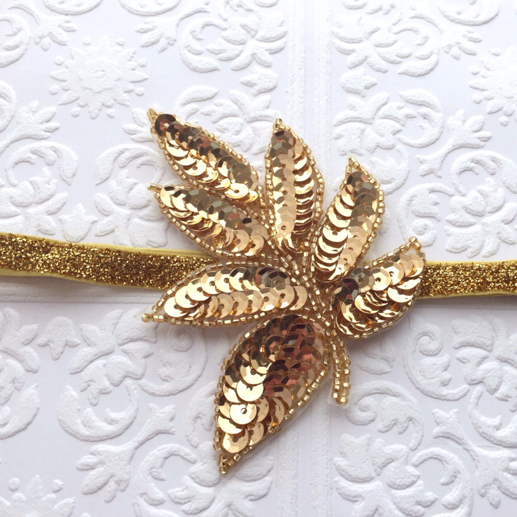 Sequin Leaf Headband