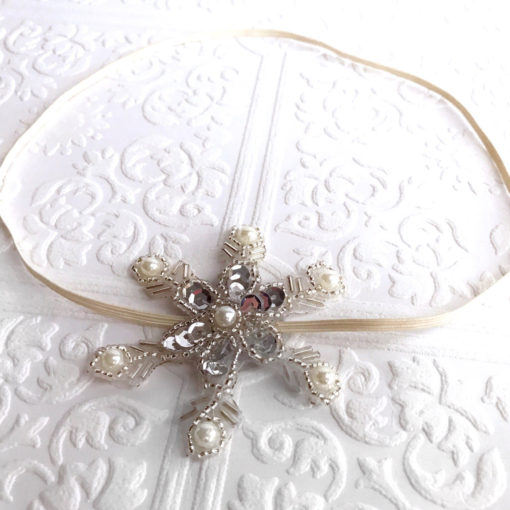 Snowflake Silver Hairpiece