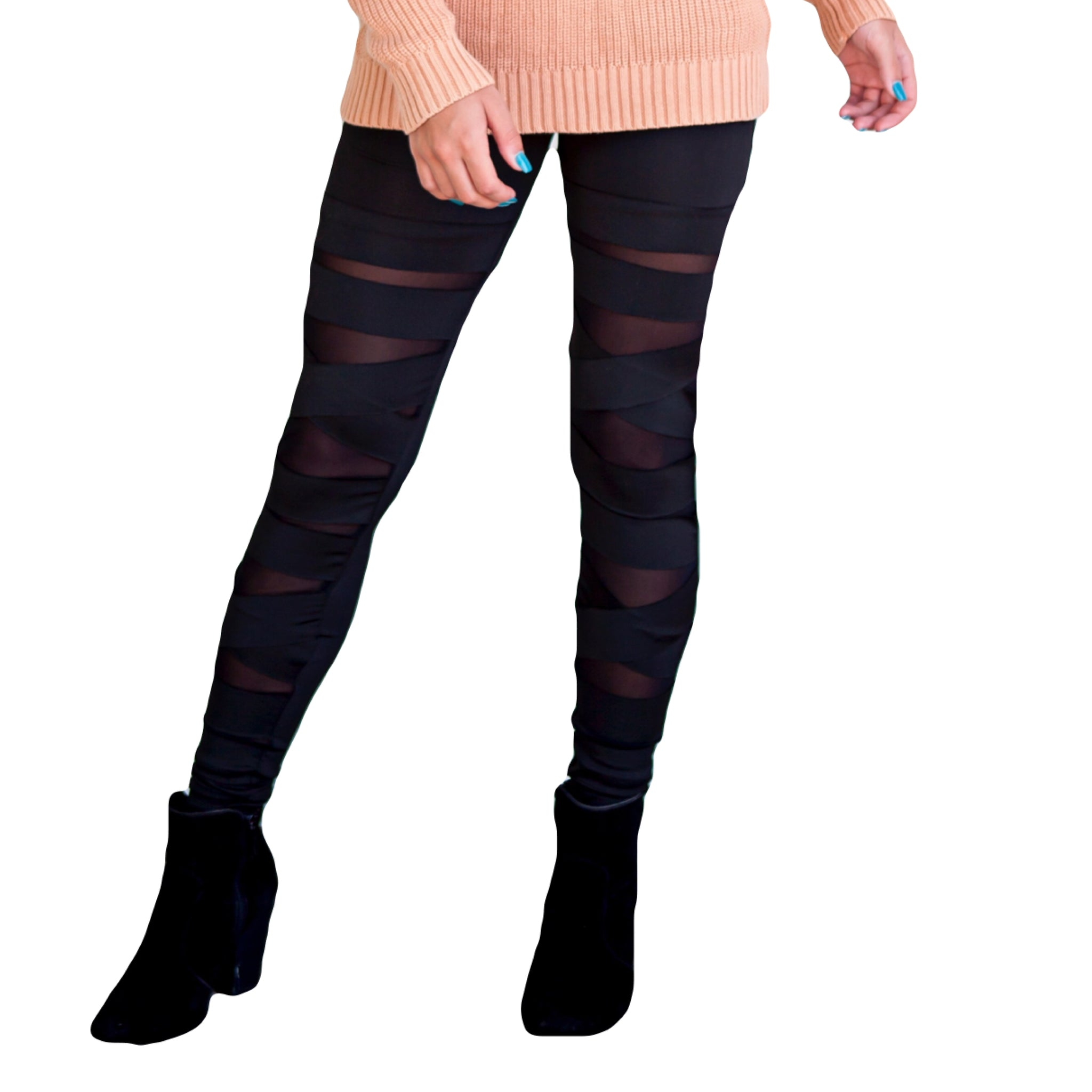 Julie ~ Mommy Black Criss Cross Leggings