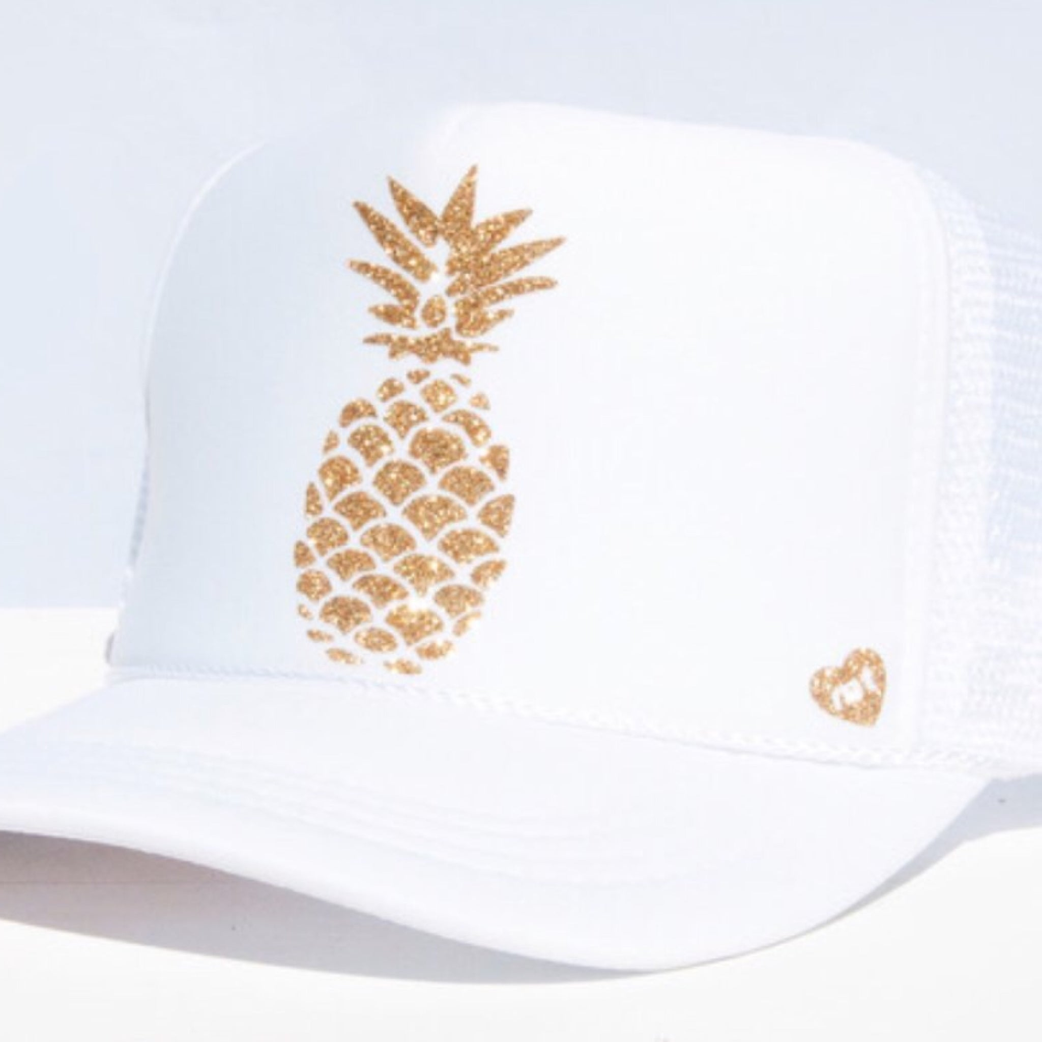Pineapple Trucker Hat (White)