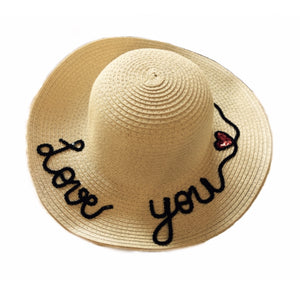Matching Mommy And Me Mama and Mini Black Glitter Lettering Sun Hats