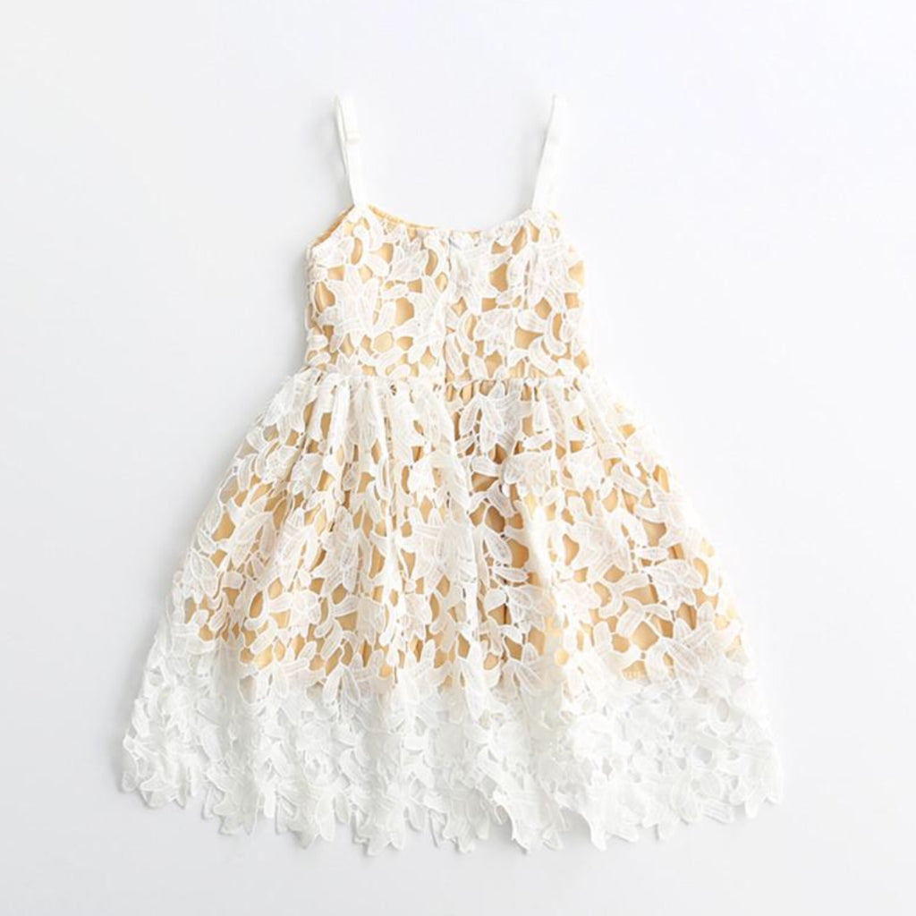 NEW - Nadia ~White Eyelet Dress