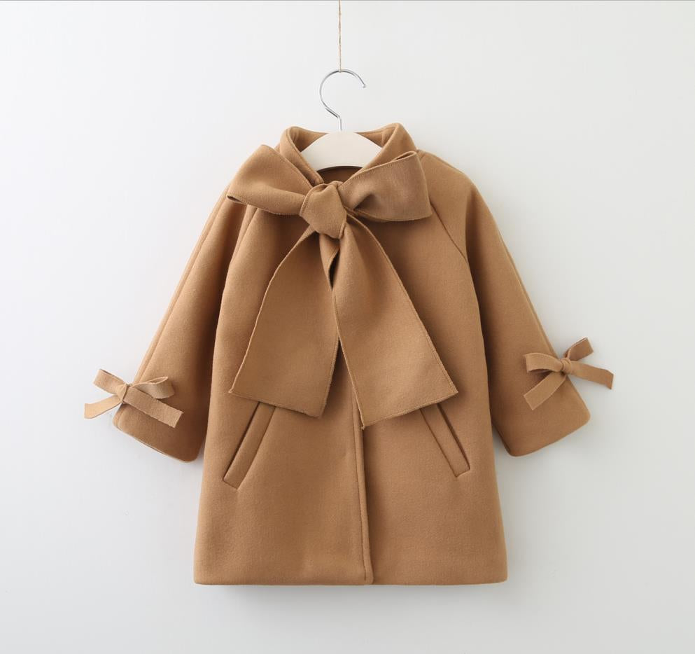 Vandy ~ Bow Pea Coat