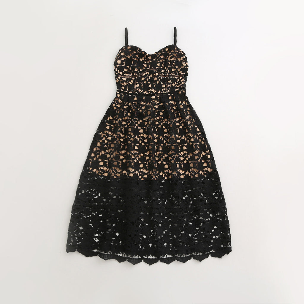 Nadia - Black Mommy Lace Dress