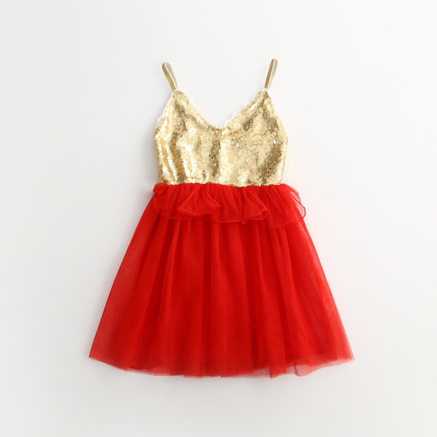 Cassidy ~ Sequin Frill Tutu Dress (RED)