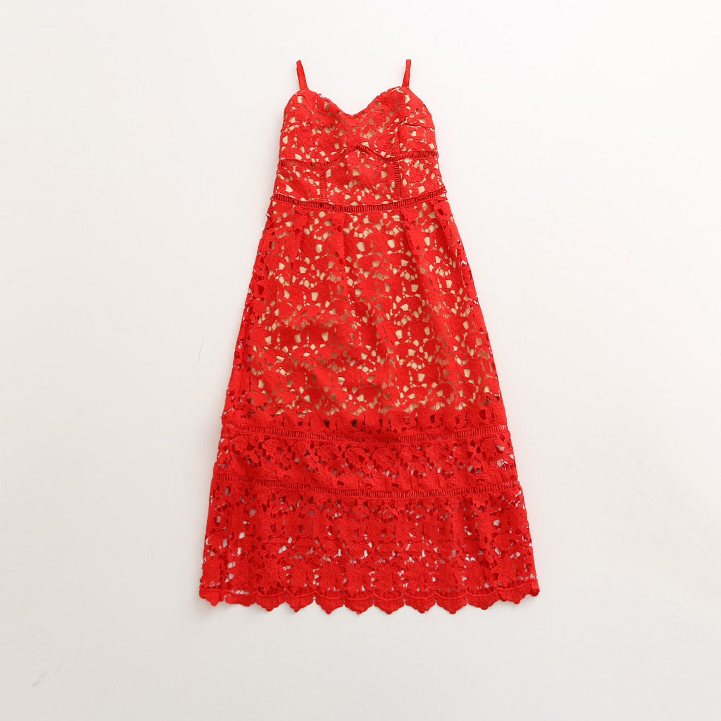 Nadia - Red Mommy Lace Dress