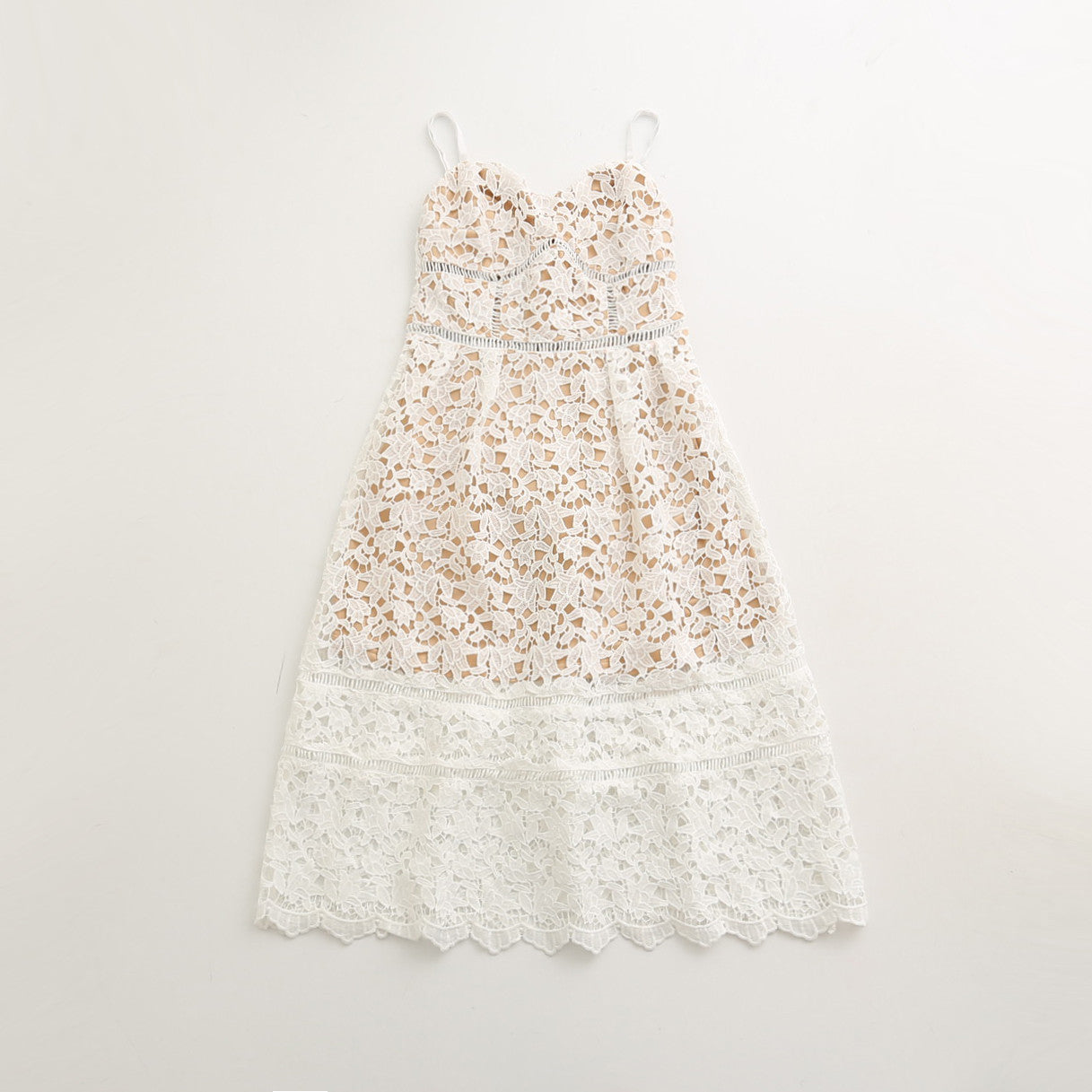 Nadia - White Mommy Lace Dress