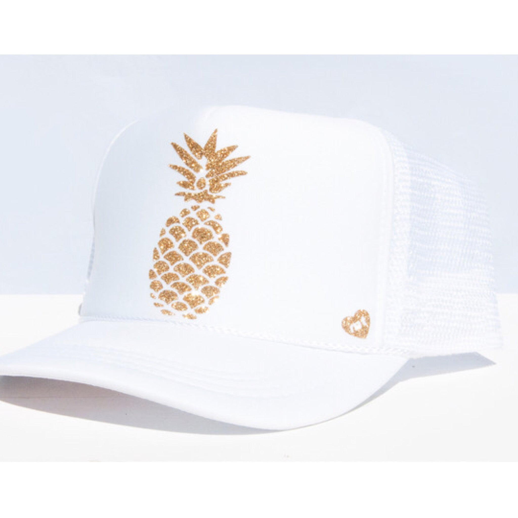 Pineapple Mommy Trucker Hat (White)