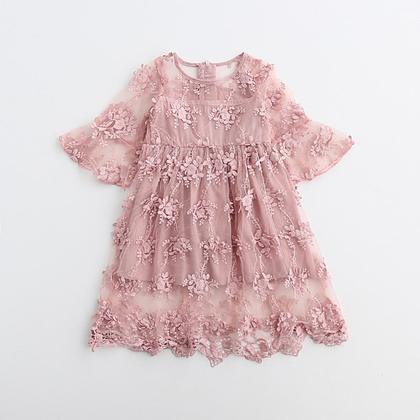 Rayleene - Mauve Lace Dress