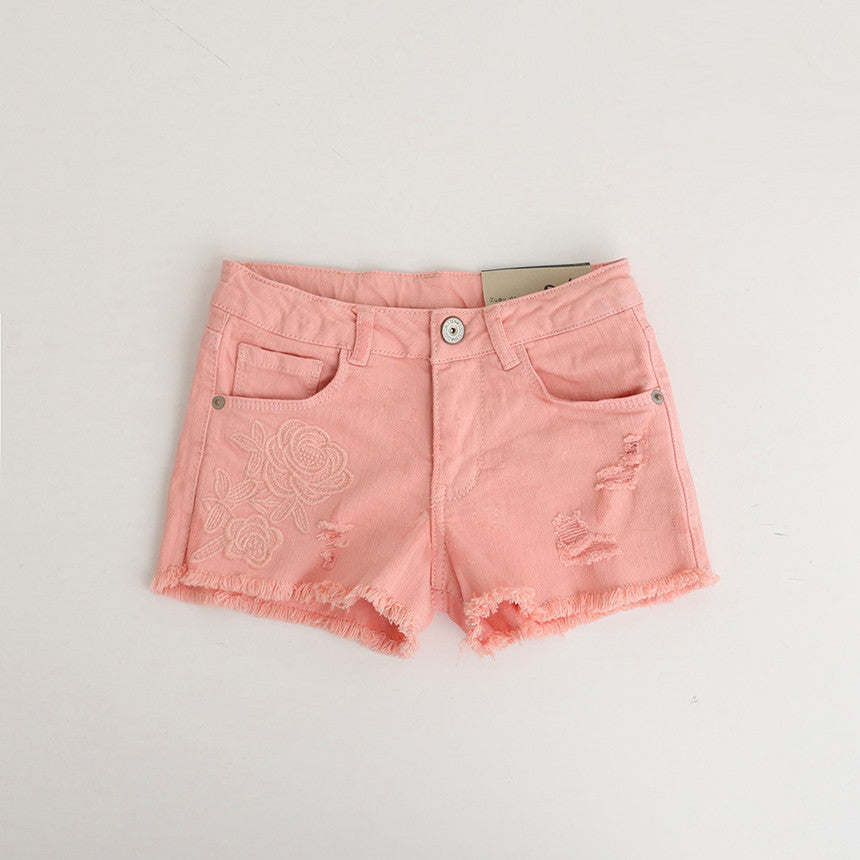 Delia ~ Denim Pink Shorts