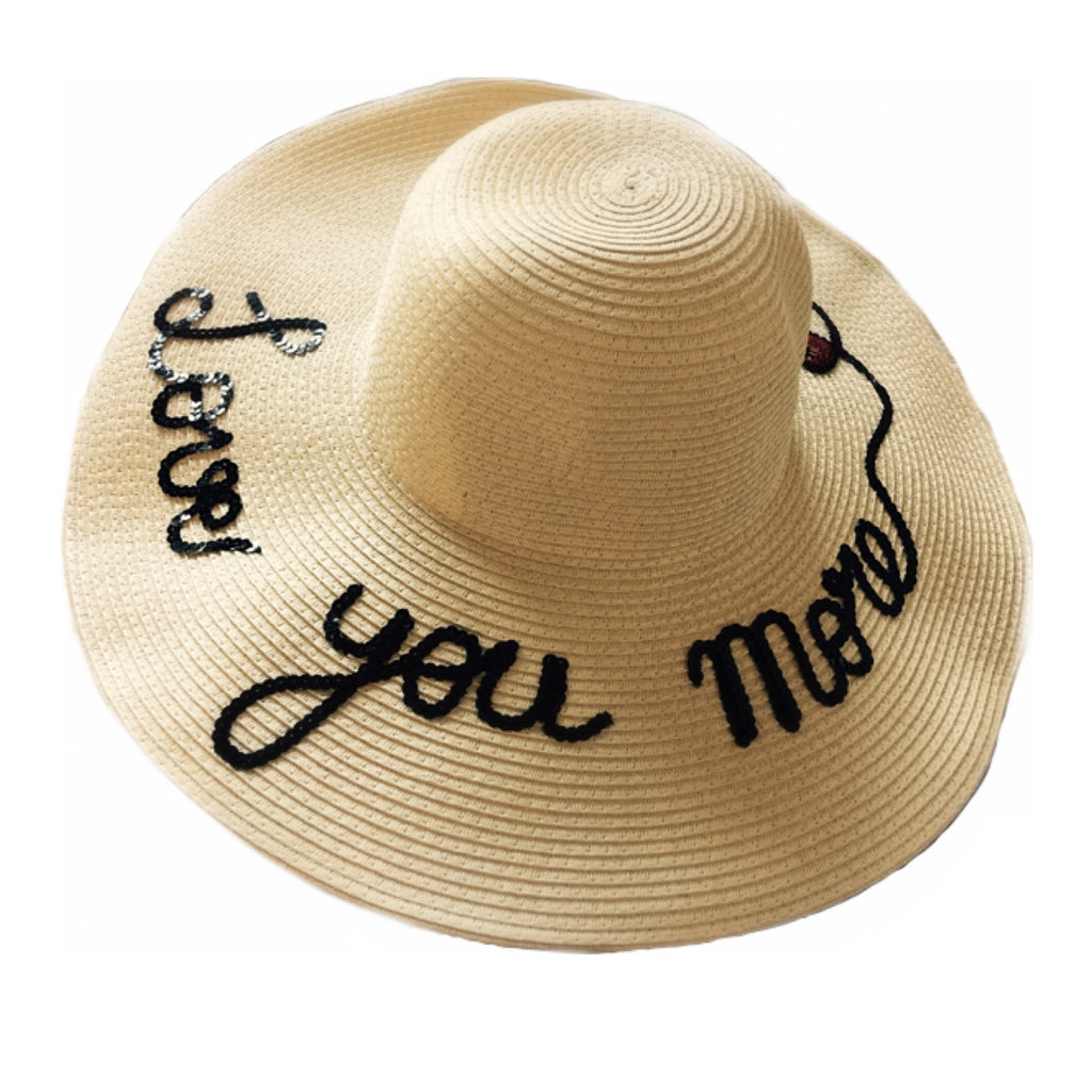 "NEW - ""Love You More"" Mommy Straw Hat *"