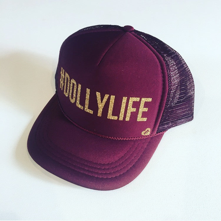 #DOLLYLIFE Trucker Hat (Maroon)