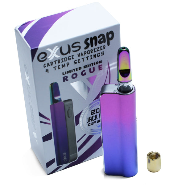 Exxus Snap Cartridge Vaporizer in Rogue color option. Limited Edition Vape Kit