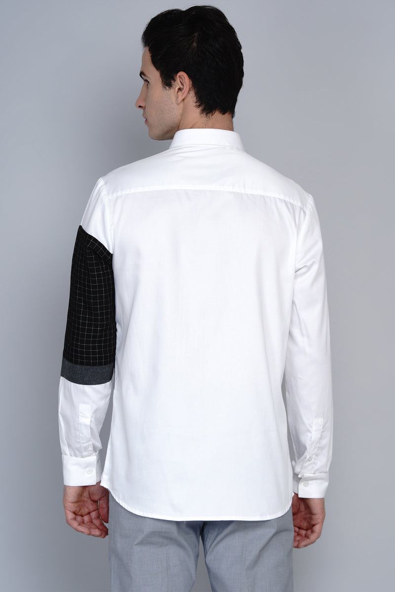 STAVERN- SLEEVE COLOUR BLOCKED SHIRT