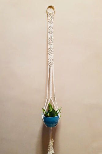 Handcrafted macrame classic plant hanger