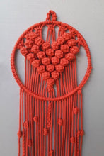 Load image into Gallery viewer, Handcrafted Macramé 'Le Coeur' Dreamcatcher Wall-hanging