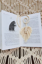 Load image into Gallery viewer, Handcrafted macrame leaf feather bookmarks