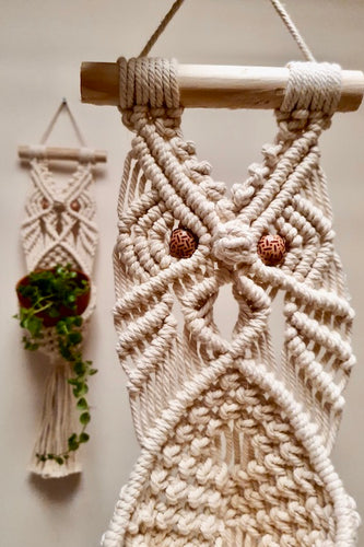 Handcrafted macrame owl plant hanger