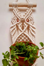 Load image into Gallery viewer, Handcrafted macrame owl plant hanger