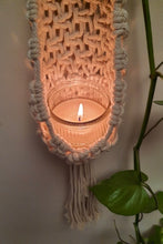 Load image into Gallery viewer, Handcrafted Macrame Mesh netted plant hanger or candle holder
