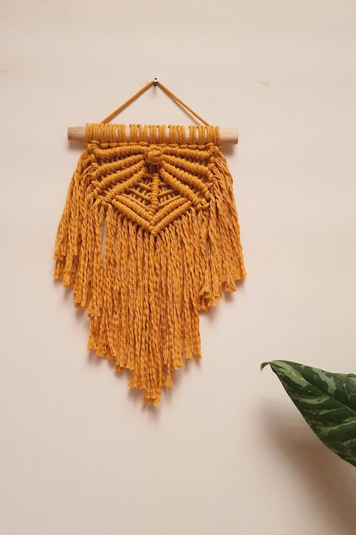 Handcrafted Macrame rays of hope wallhanging