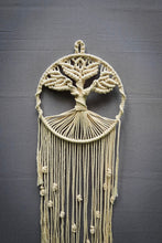 Load image into Gallery viewer, Handcrafted Macramé 'Tree of Life' Dreamcatcher