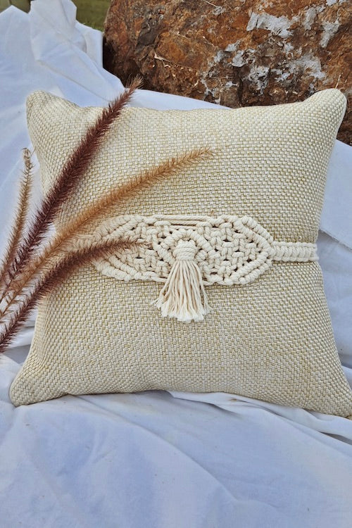 Handcrafted Macramé Single Tassel Adjustable Cushion Belts (Set of 2)