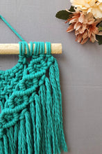 Load image into Gallery viewer, Handcrafted Macramé 'Boho' Wallhanging - Turquoise