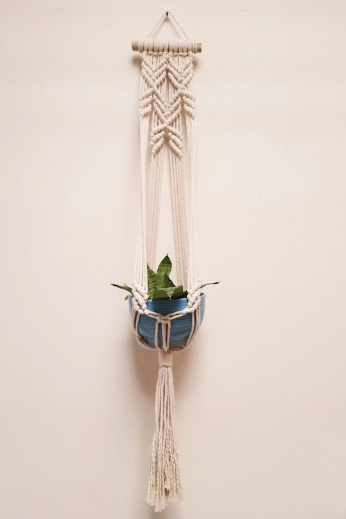 Handcrafted Macrame blooming flower plant hanger