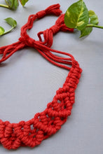 Load image into Gallery viewer, Handcrafted Macramé Hairband - Red