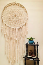 Load image into Gallery viewer, Handcrafted macrame Mandala dreamcatcher wallhanging