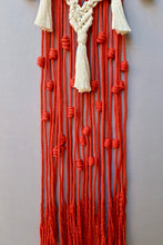 Load image into Gallery viewer, Handcrafted Macrame 'Heart-beat' Wall-Hanging