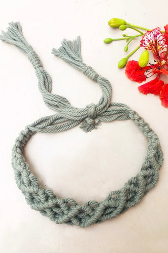 Material : 100% Organic Cotton Thread Craft : Macramé Colour : Baby Pink Measurements : Width - 1.5