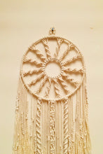 Load image into Gallery viewer, Handcrafted Macramé 'Chakra' Dreamcatcher Wallhanging