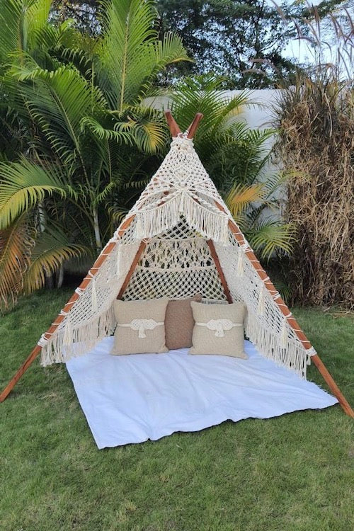 Handcrafted Macrame Teepee Tent