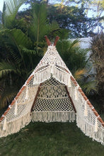 Load image into Gallery viewer, Handcrafted Macrame Teepee Tent