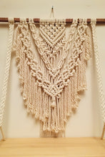 Load image into Gallery viewer, Handcrafted Macramé 'Boho' Wallhanging Shelf