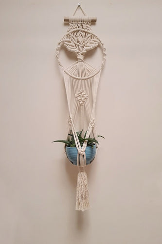 Handcrafted macrame tree of life plant hanger