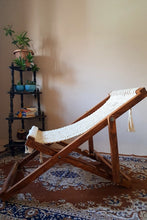 Load image into Gallery viewer, Handcrafted Macrame foldable portable lounge chair