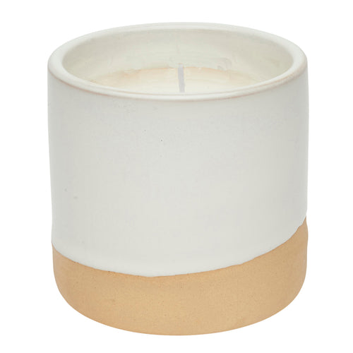 Cannwyll Mewn Potyn | Vanilla Scented Candle In Pot - White