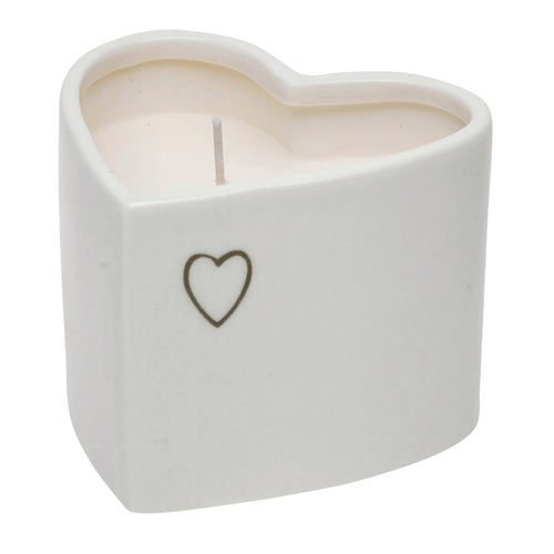 Cannwyll Mewn Potyn Calon | Candle in a Heart Shaped Pot