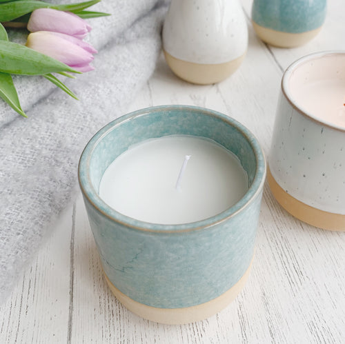 Cannwyll Mewn Potyn | Vanilla Scented Candle In Pot - Blue