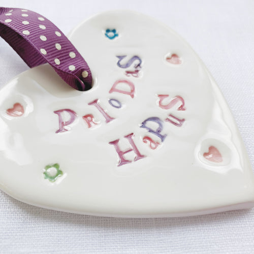 Calon Serameg - Priodas Hapus | Ceramic Heart - Happy Wedding