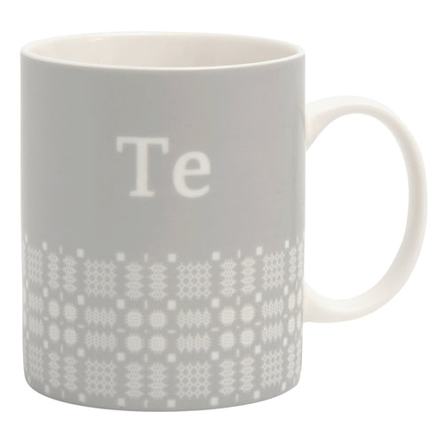 Mwg Te Brethyn | Te Mug With Welsh Cloth Pattern