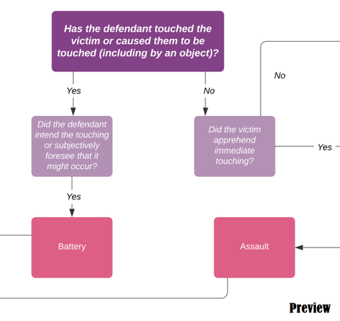 Criminal Law: Non-Fatal Personal Offences Decision Tree