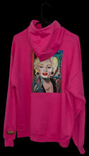 Load image into Gallery viewer, Kandykorn X Slimyburger -Hot Pink or Purple Haze Hoodie W/ Marilyn Monroe on backside, Ribbed Cuffs & Waist Band Sizes (S-XL) 1950s Fashion
