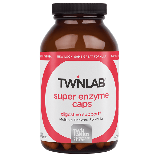 Twinlab® Super Enzyme Caps 50 Count have a selected blend of multi-enzymes that supports intestinal health and digestion