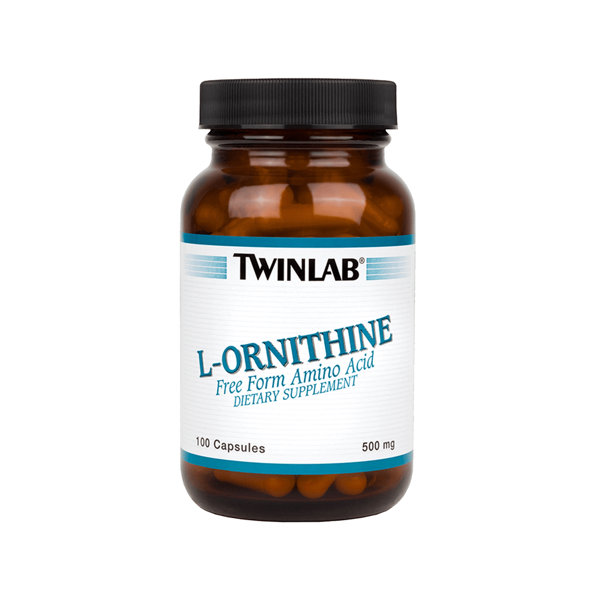 Twinlab® L-Ornithine Caps deliver 500 mg of the free-form amino acid l-ornithine in just one capsule a day.