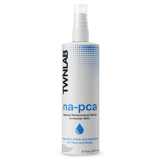 Twinlab® Na-PCA moisturizing spray (non-oily) keeps the skin soft and improves its appearance, giving you a youthful glow.