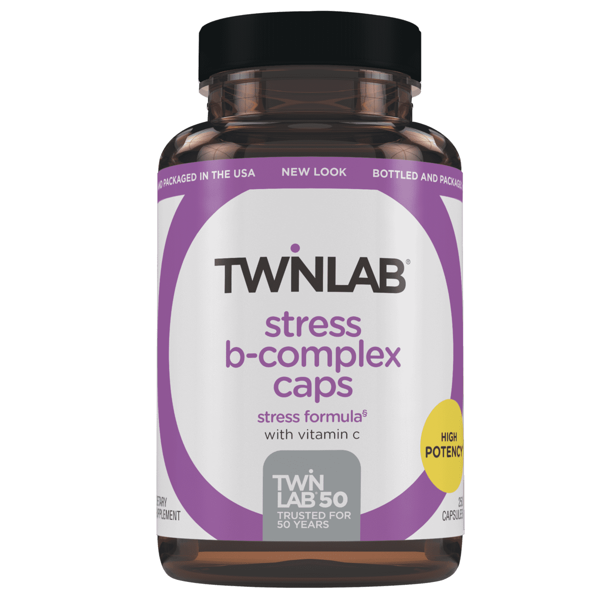 Just 2 capsules a day of Stress B-Complex 250 Count Caps helps counter negative effects of Stress.